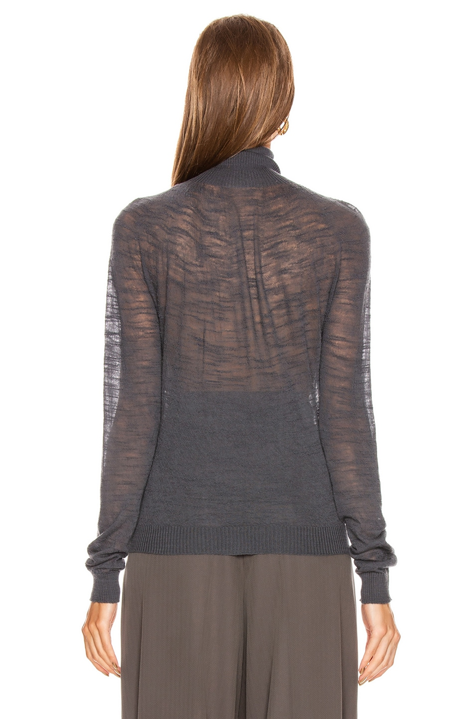 Image 3 of Lemaire Light Turtleneck Top in Stone Grey