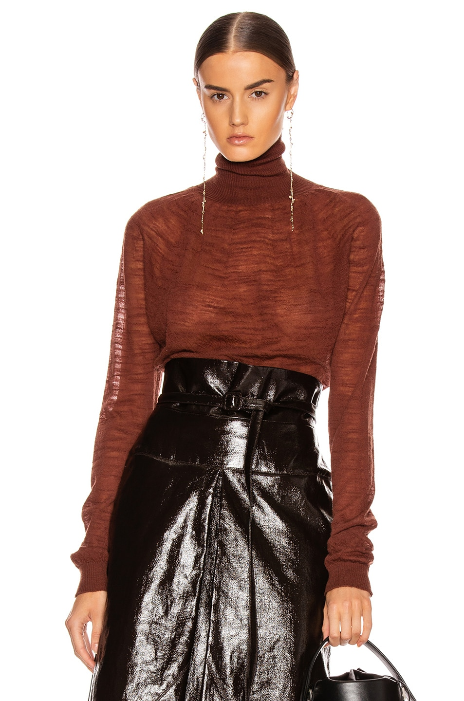 Image 1 of Lemaire Light Turtleneck Top in Terracotta