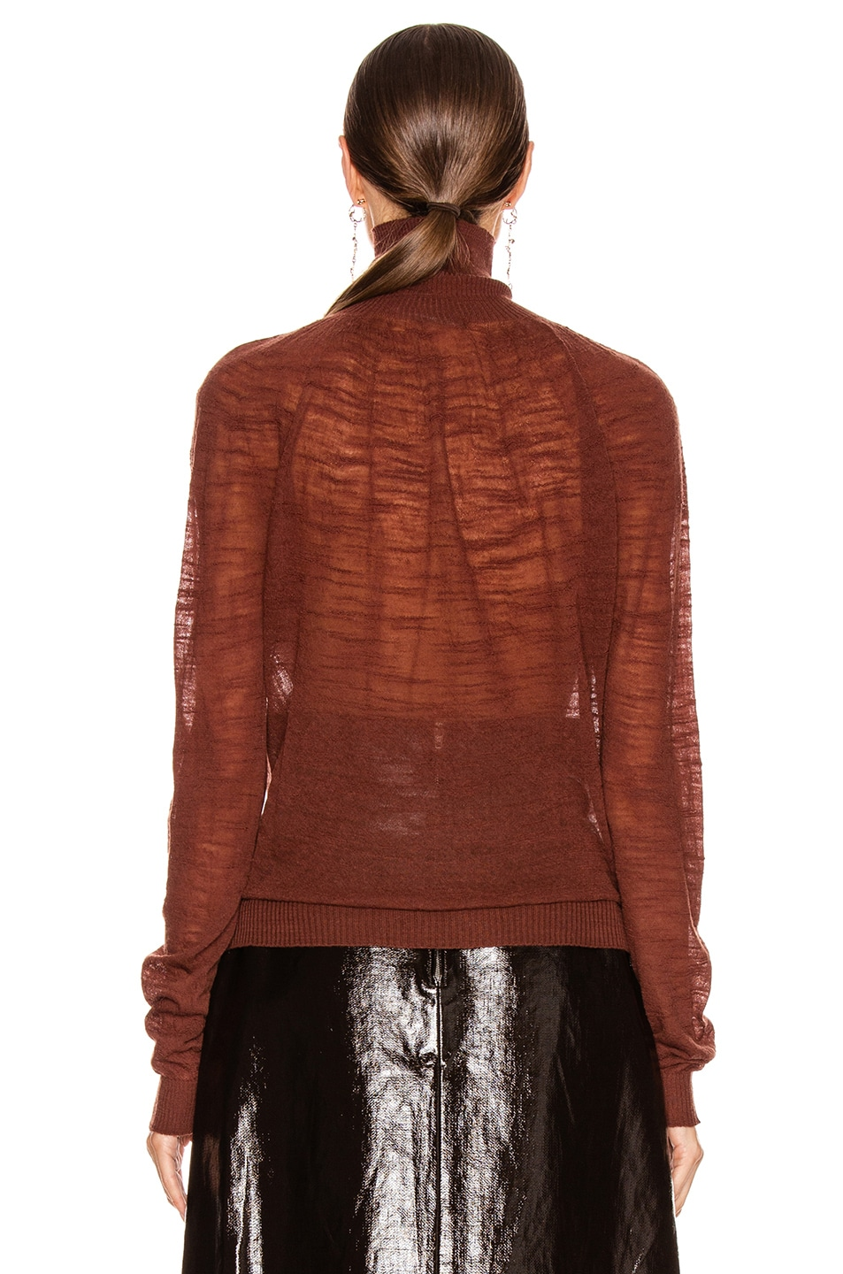 Image 3 of Lemaire Light Turtleneck Top in Terracotta