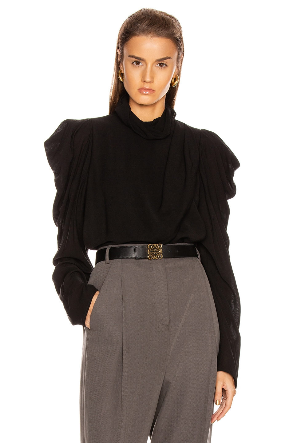 Image 1 of Lemaire Draped Blouse in Black