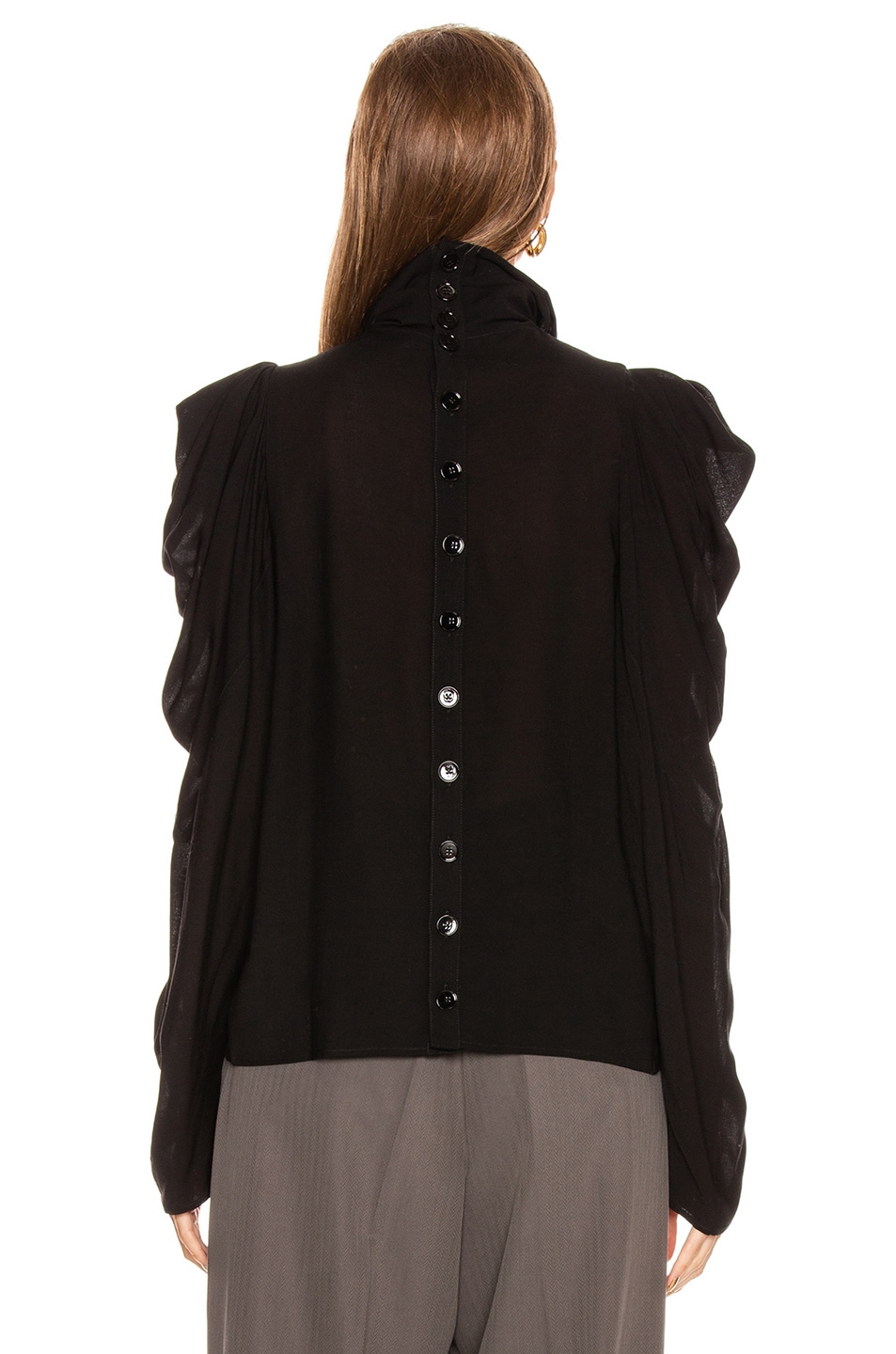 Image 3 of Lemaire Draped Blouse in Black