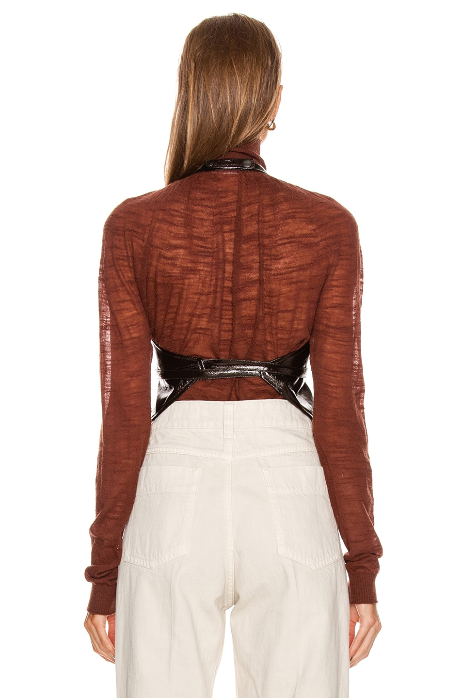 Image 3 of Lemaire Plastron Top in Chocolate Torte