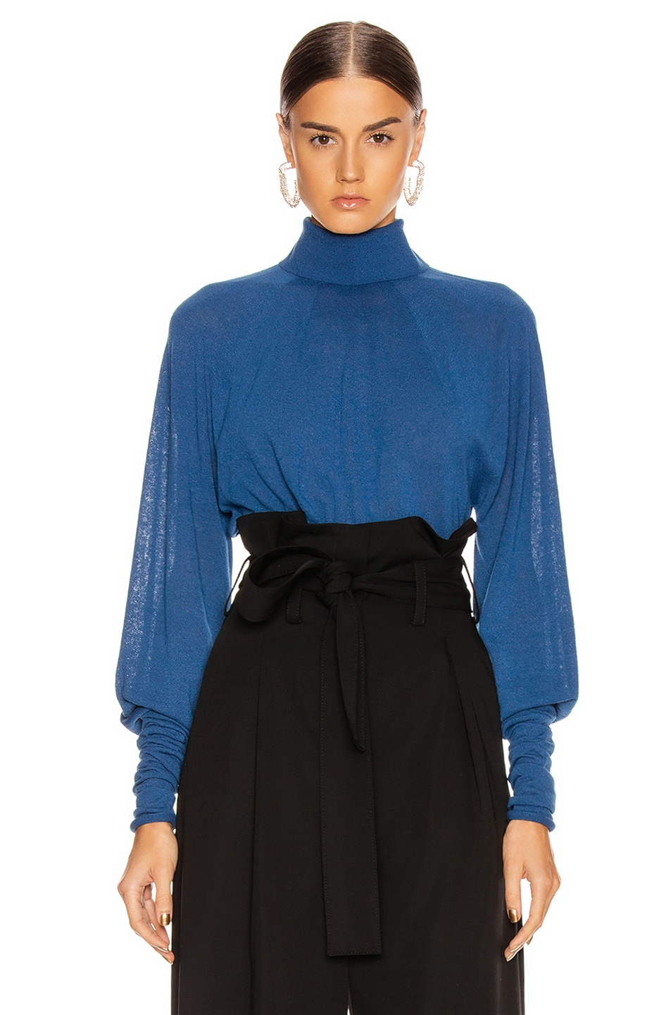 Image 1 of Lemaire Lose Turtleneck Top in Royal Blue