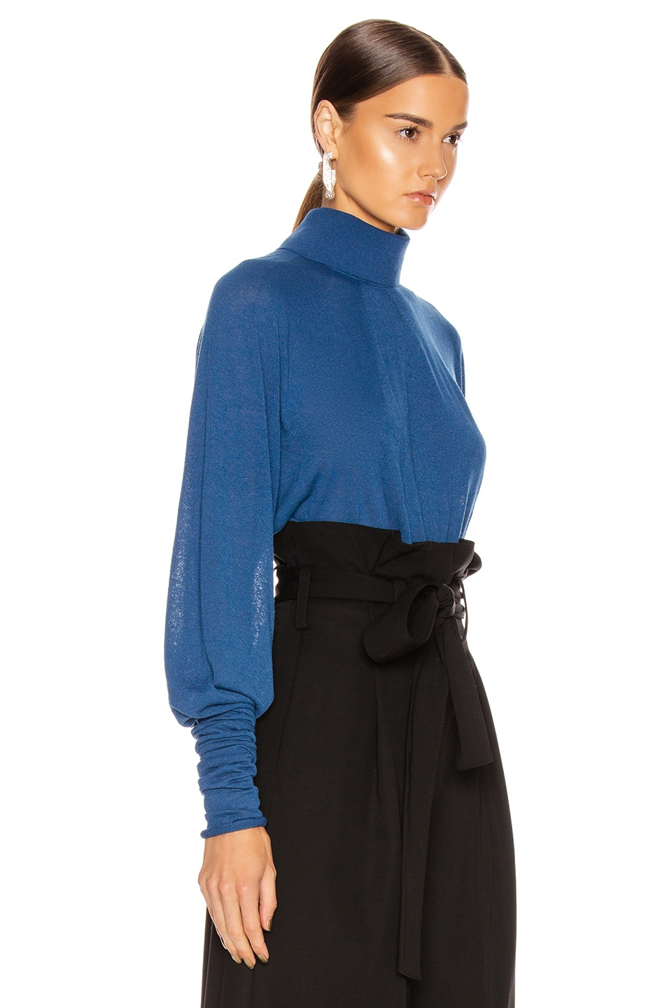 Image 2 of Lemaire Lose Turtleneck Top in Royal Blue