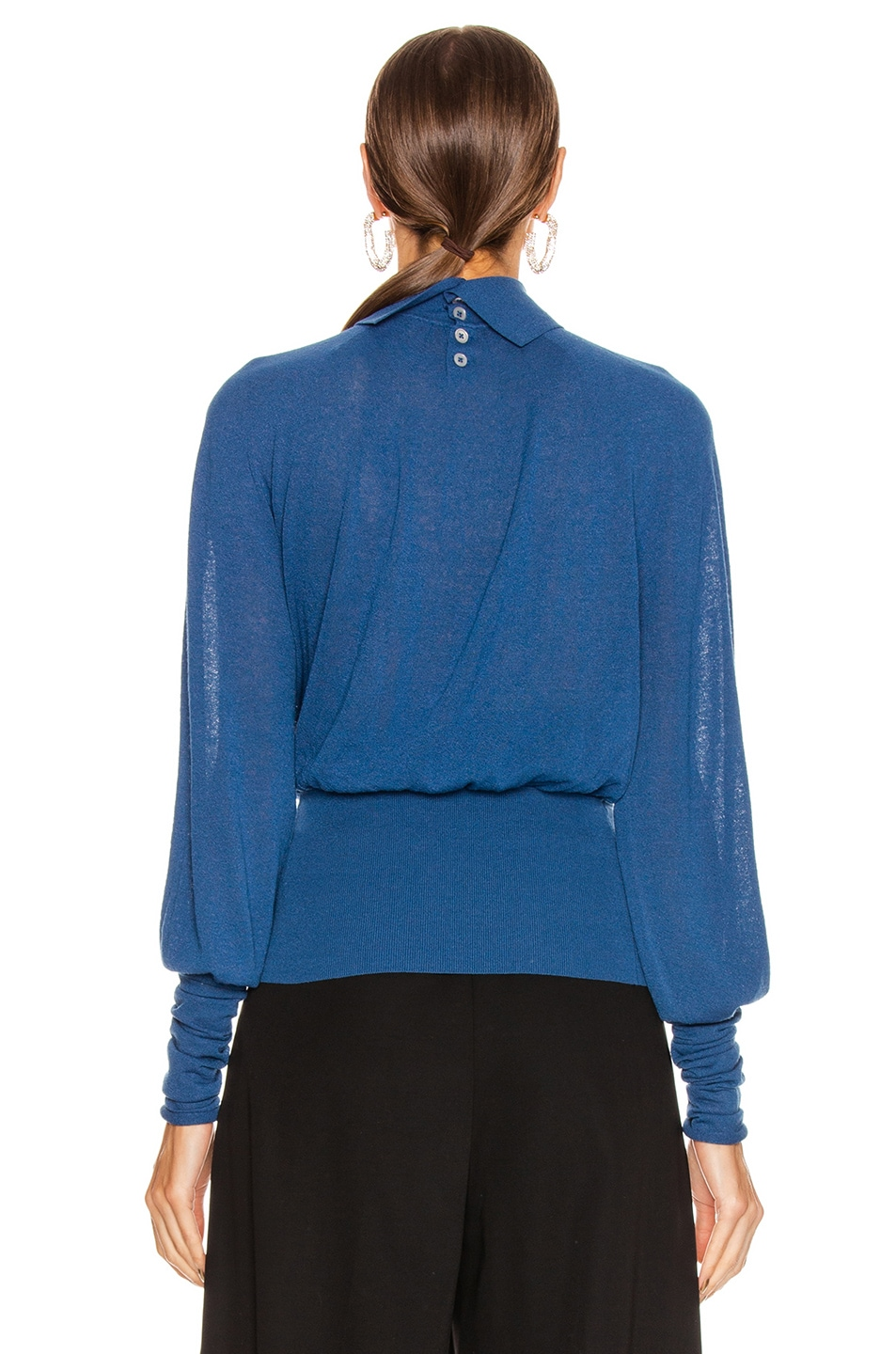 Image 3 of Lemaire Lose Turtleneck Top in Royal Blue