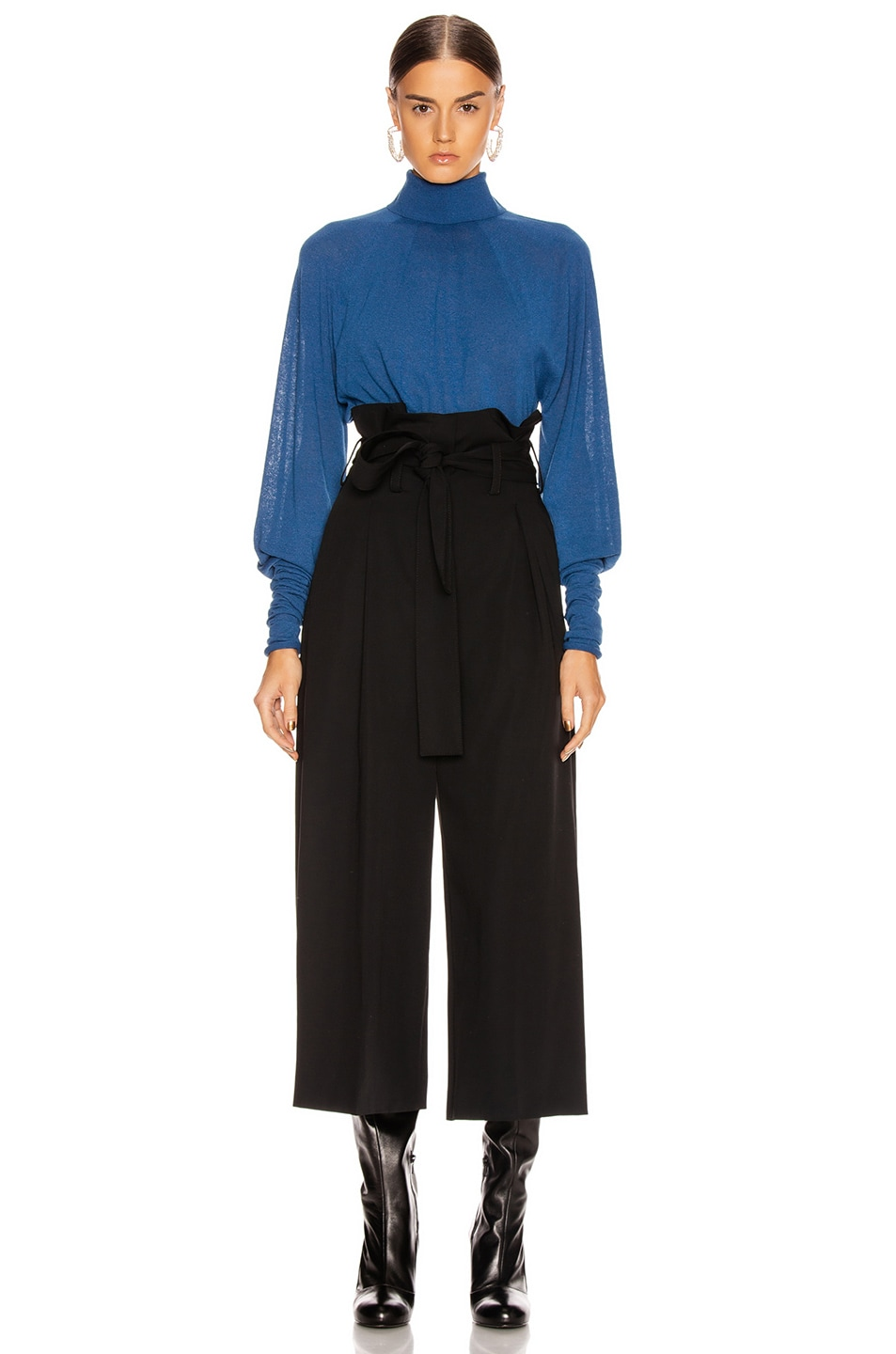 Image 4 of Lemaire Lose Turtleneck Top in Royal Blue