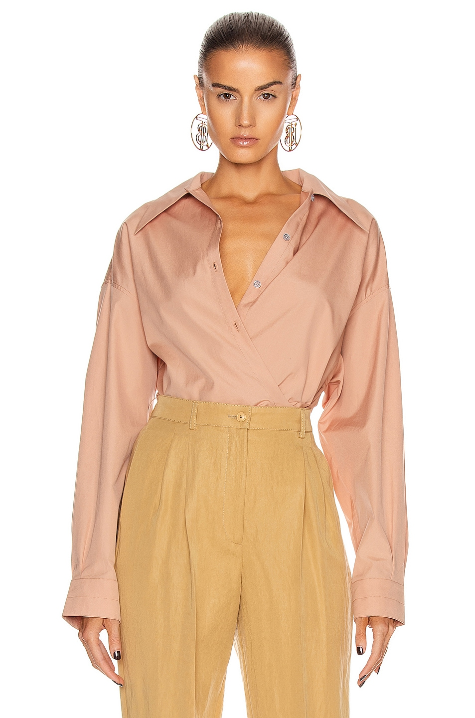 Image 1 of Lemaire Twisted Top in Camel