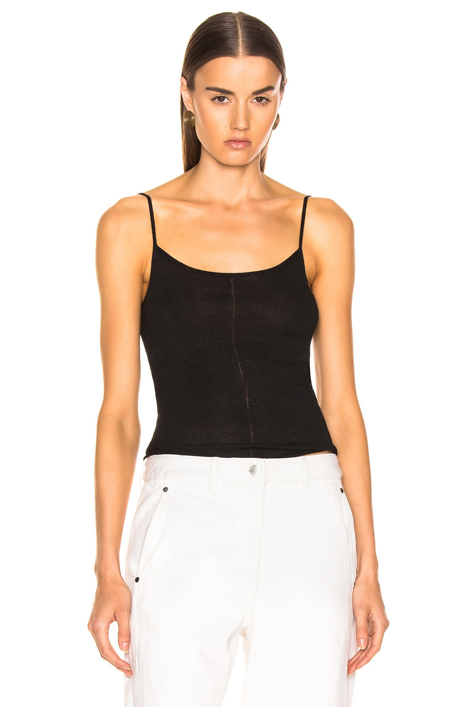 Image 1 of Lemaire Second Skin Tank Top in Black
