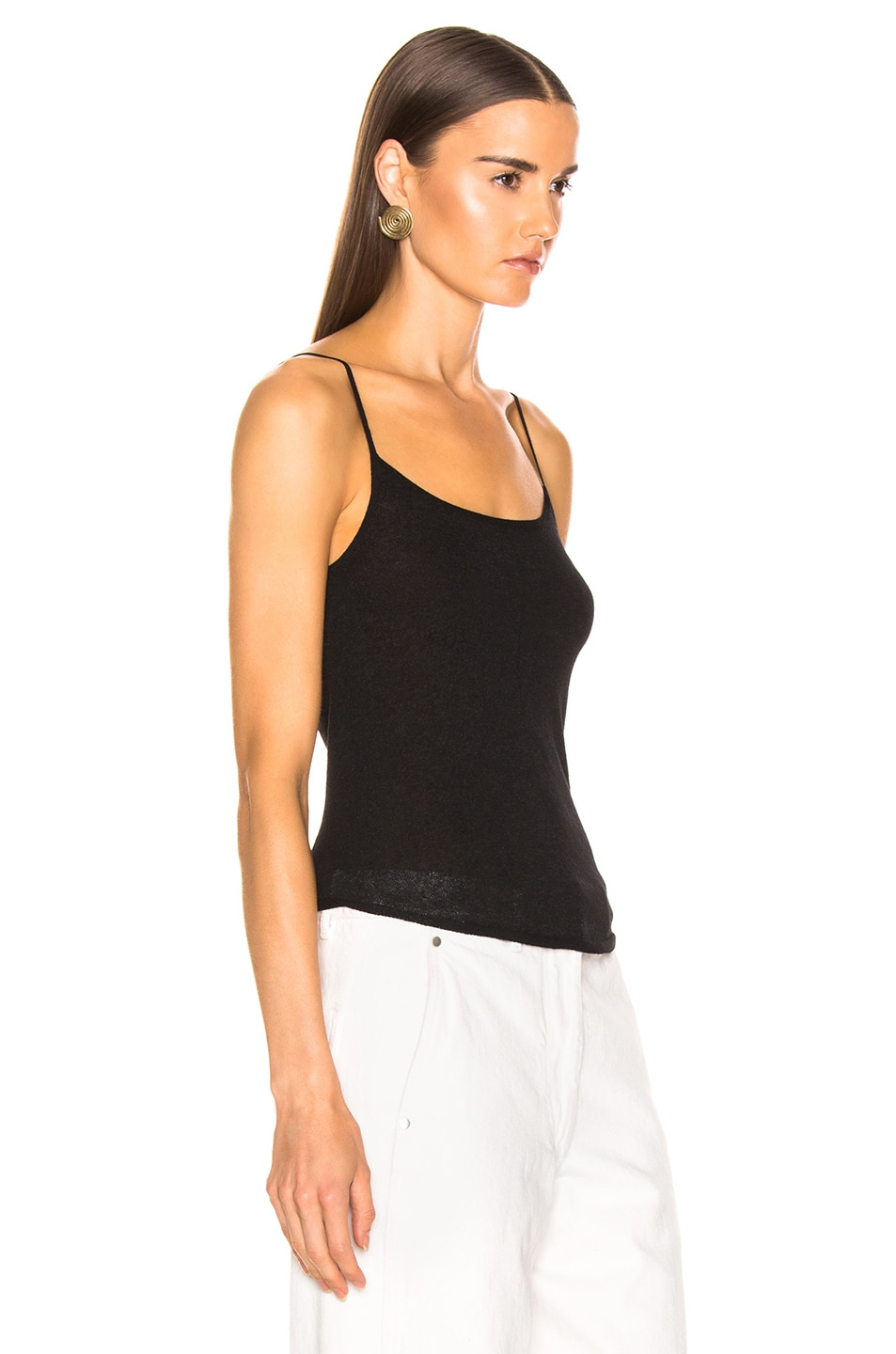 Image 2 of Lemaire Second Skin Tank Top in Black