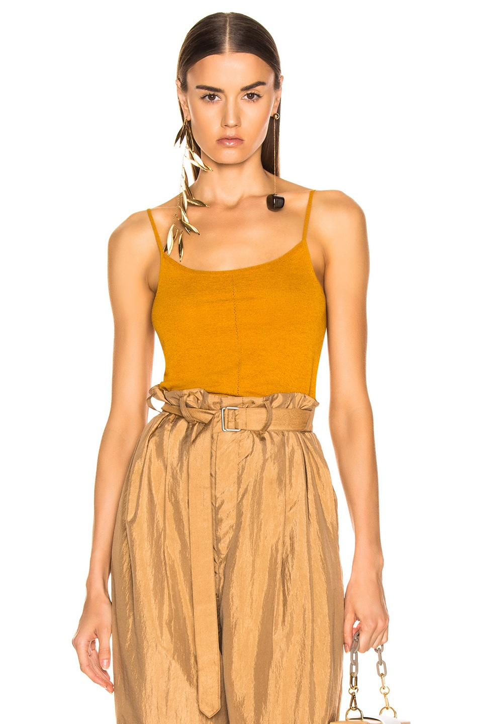 Image 1 of Lemaire Second Skin Tank Top in Mustard