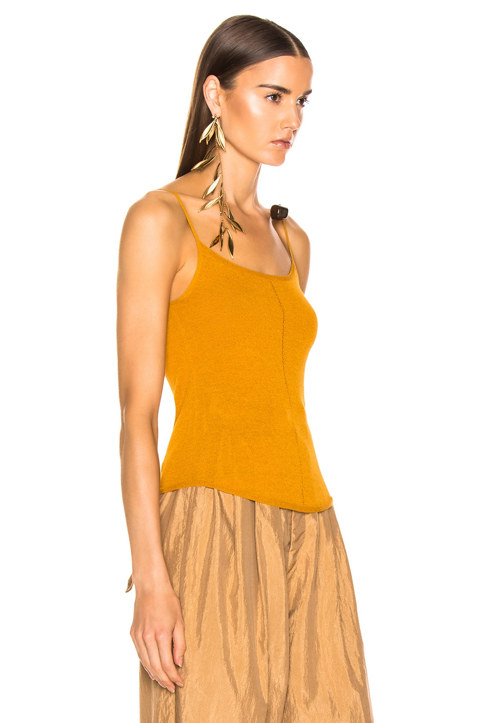 Image 2 of Lemaire Second Skin Tank Top in Mustard