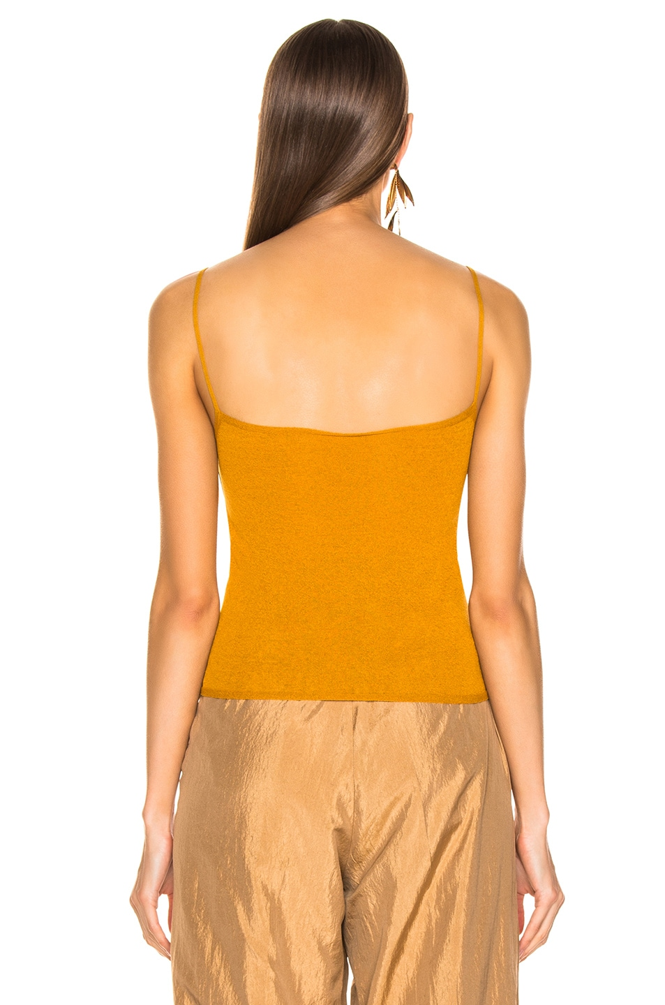 Image 3 of Lemaire Second Skin Tank Top in Mustard