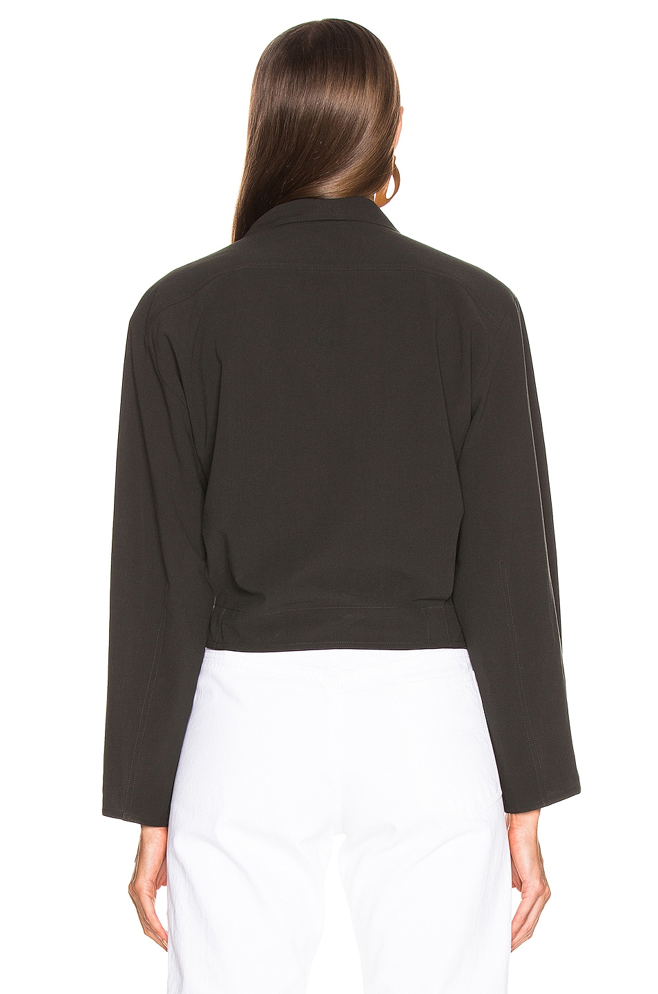 Image 4 of Lemaire Knotted Top in Black Olive Green
