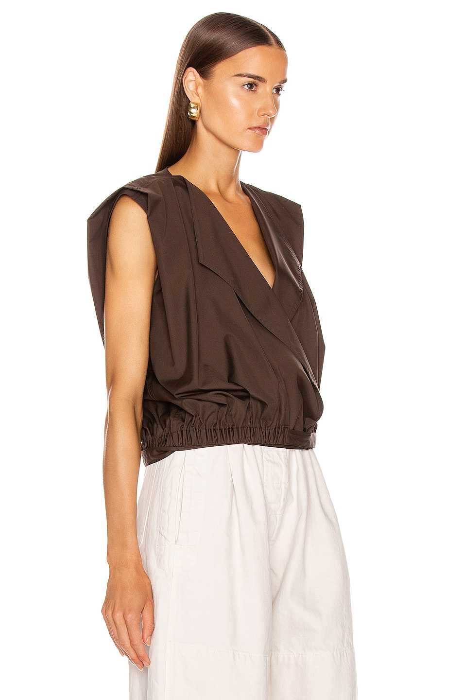 Image 2 of Lemaire Wrapover Top in Midnight Forest