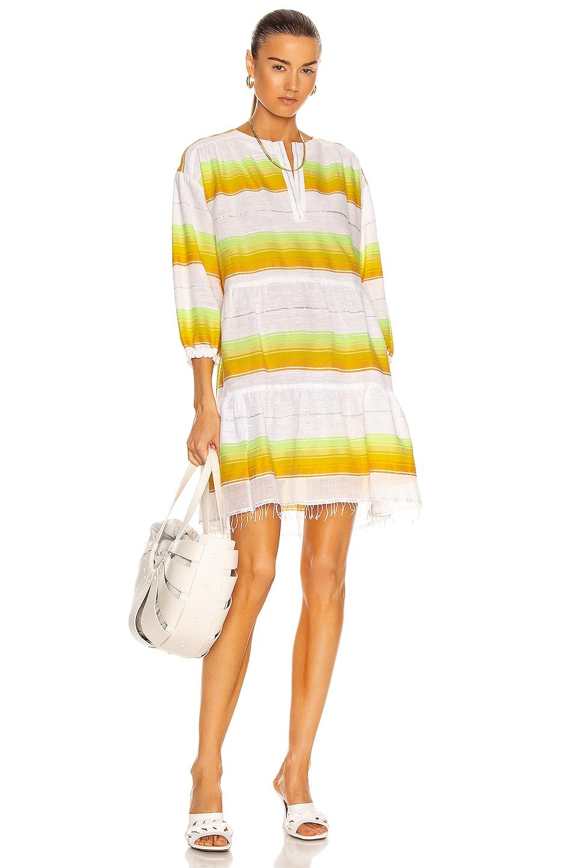 Image 1 of Lemlem Mazaa Popover Dress in Yellow
