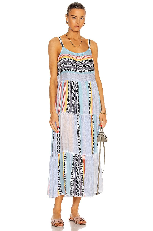 Image 1 of Lemlem Neela Cascade Dress in Sky Blue