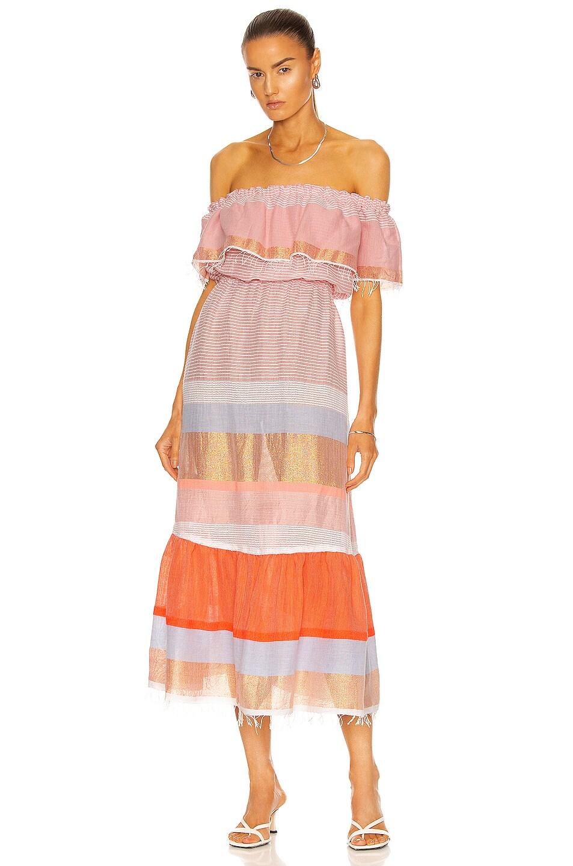 Image 1 of Lemlem Marjani Beach Dress in Peach Puff