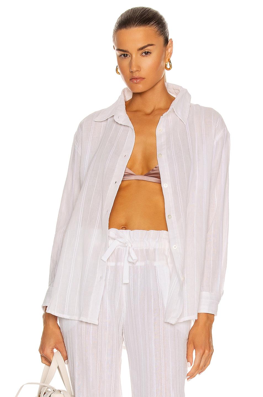 Image 1 of Lemlem Kelali Men's Shirt in White