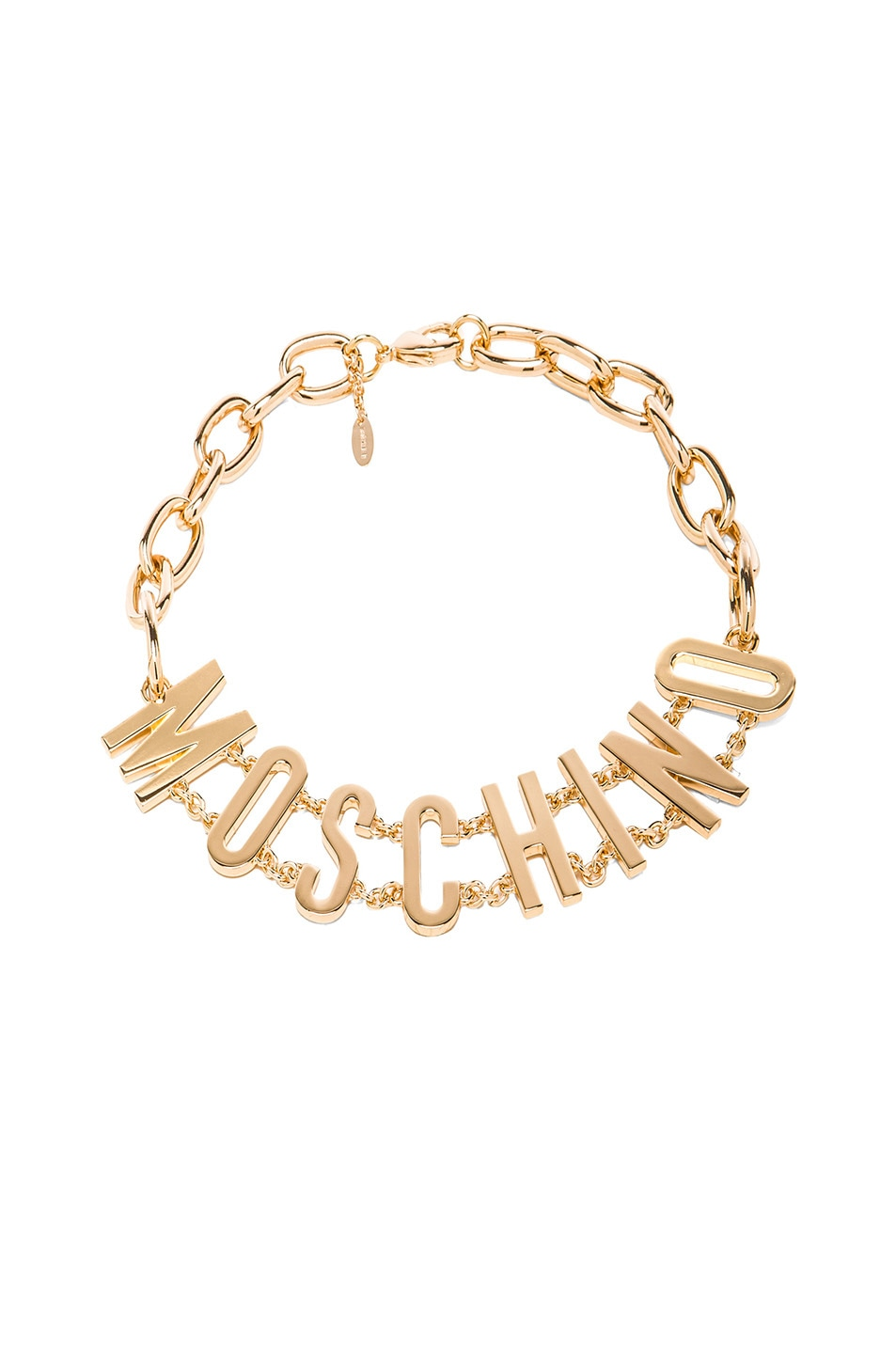 Image 1 of Moschino Logo Necklace in Gold