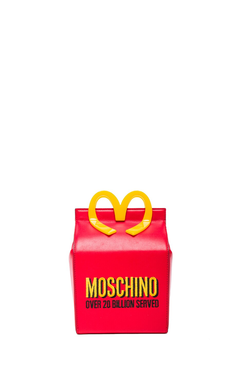 Image 1 of Moschino Happy Meal Bag in Red & Gold