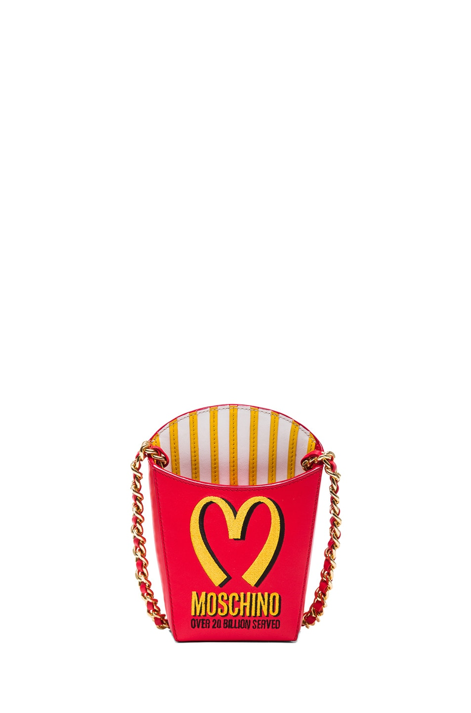 Image 1 of Moschino French Fry Bag in Red
