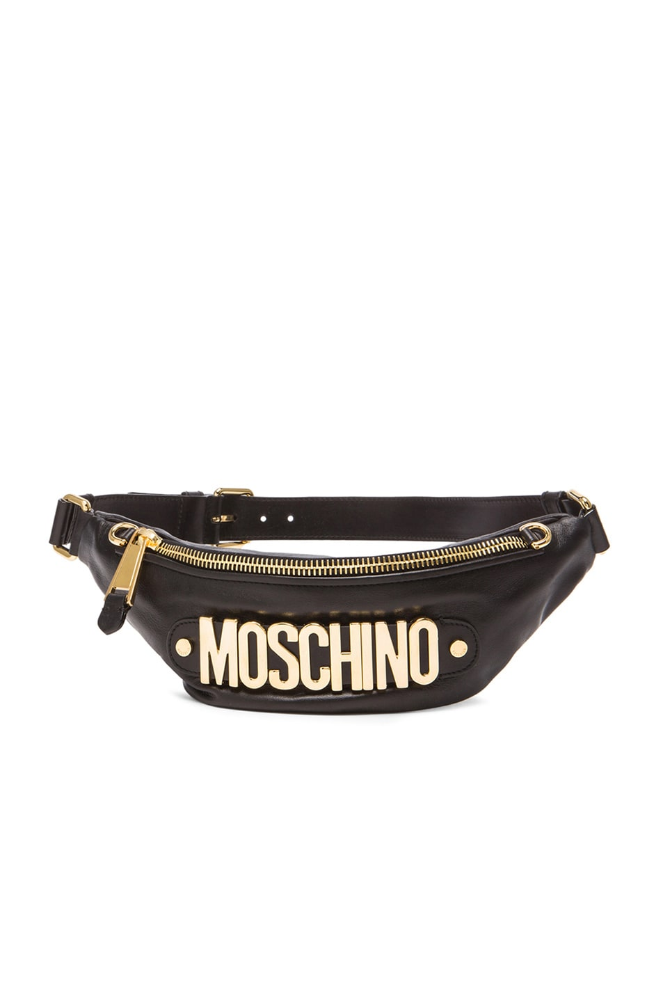 Image 1 of Moschino Logo Fanny Pack in Black