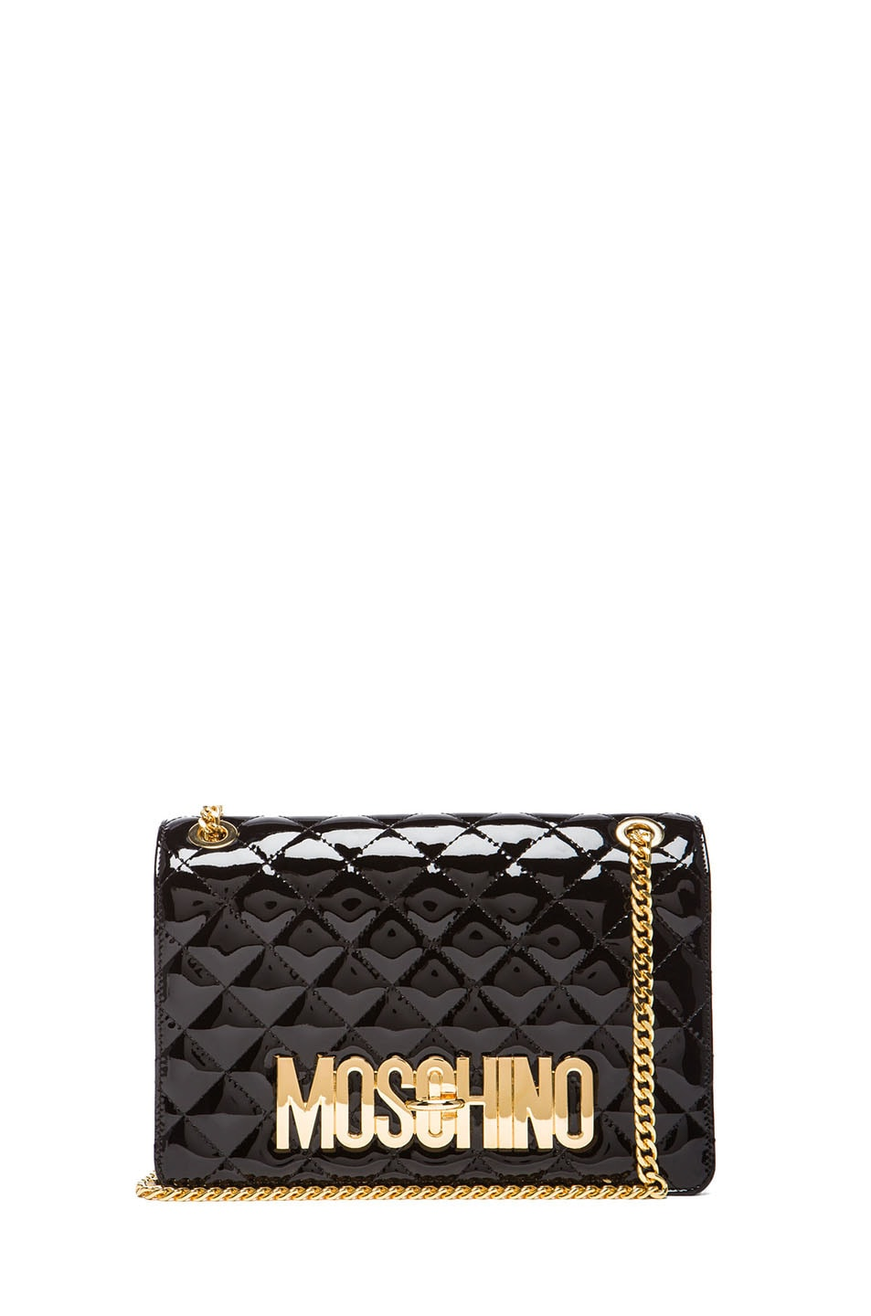 Image 1 of Moschino Quilted Shoulder Bag in Black