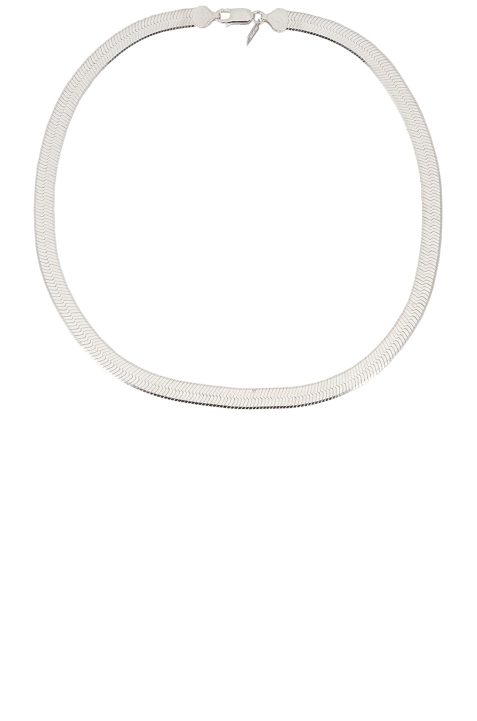 Image 1 of Loren Stewart XL Herringbone Necklace in Sterling Silver