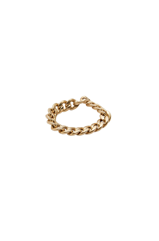 Image 1 of Loren Stewart XL Havana Chain Ring in Gold