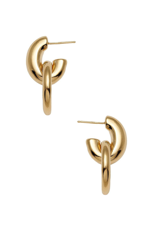 Image 1 of Loren Stewart Door Knocker Hoop Earrings in Gold