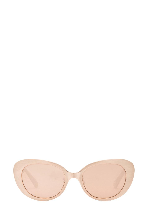 Image 1 of Linda Farrow Cat Eye Sunglasses in Brushed Rose Gold