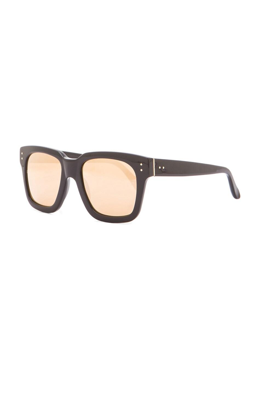 92f7792e21 Image 2 of Linda Farrow D-Frame Sunglasses in Black   Gold