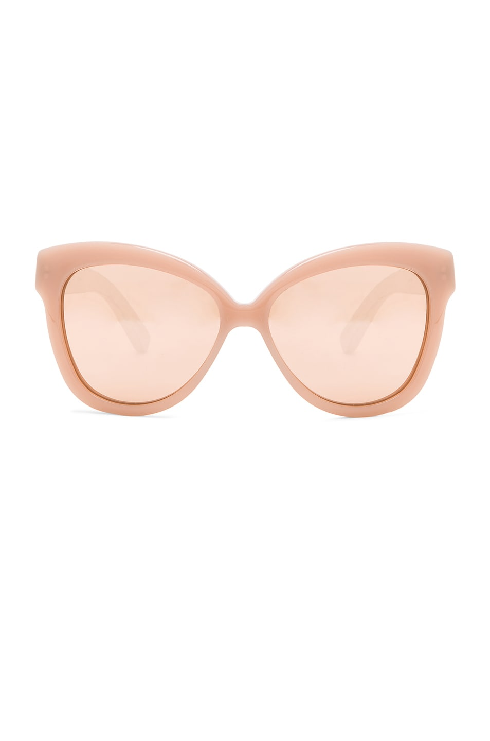 Image 1 of Linda Farrow Snake Skin Cat Eye Sunglasses in Dusty Rose