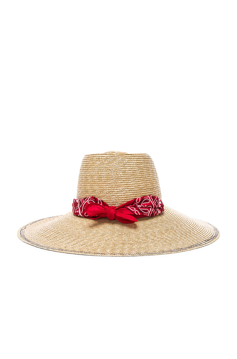Image 1 of Lola Hats Windstock Hat in Natural & Red