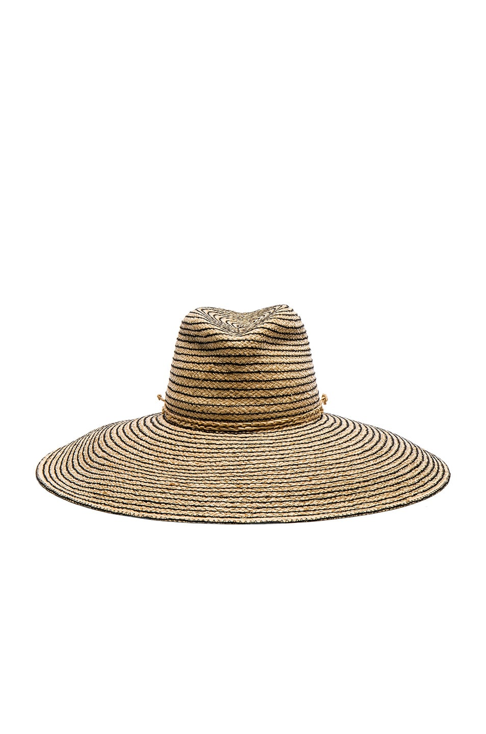 Image 1 of Lola Hats Jolly Rancher Hat in Natural & Black Stripe