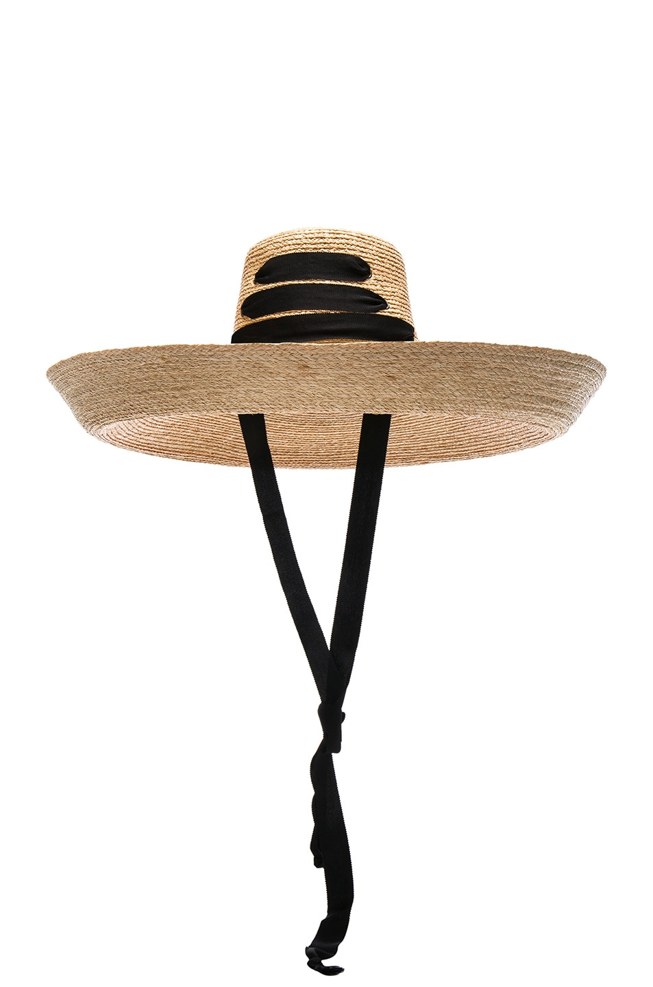 Image 1 of Lola Hats Espartina Hat in Natural & Black