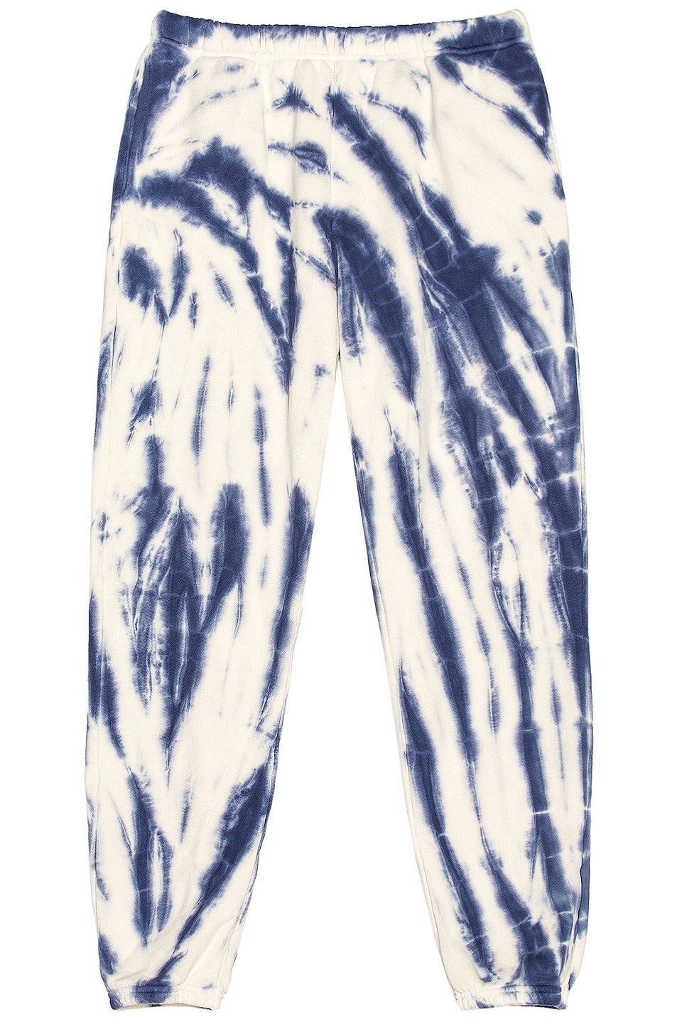 Image 1 of Les Tien Classic Sweatpant in Navy & Ivory Tie Dye