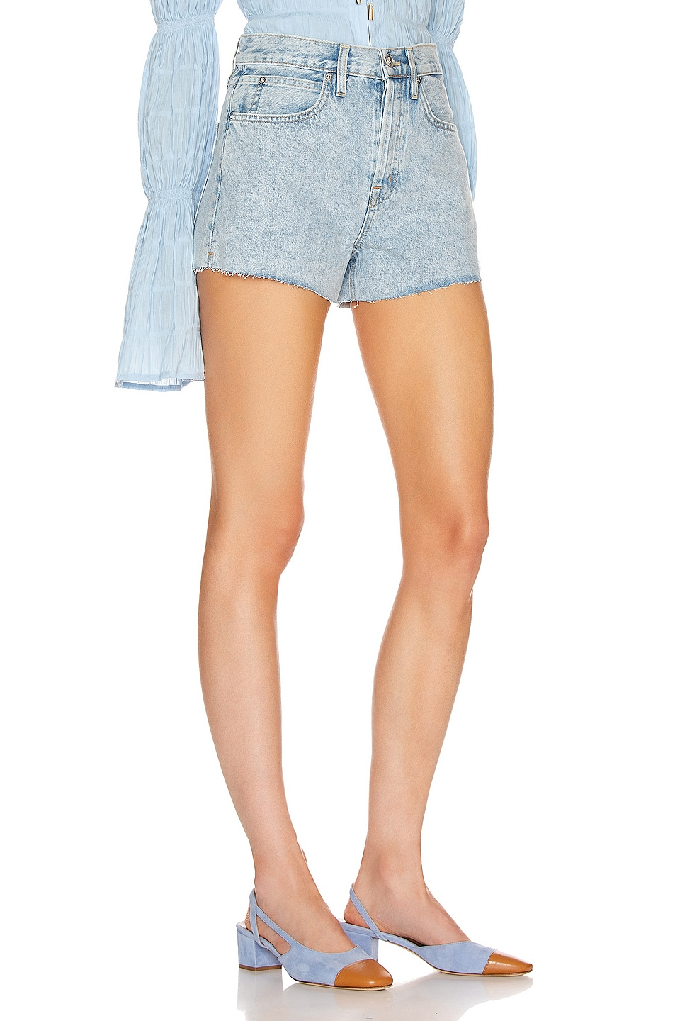 Image 2 of SLVRLAKE Farrah Boyfriend Short in Time Worn