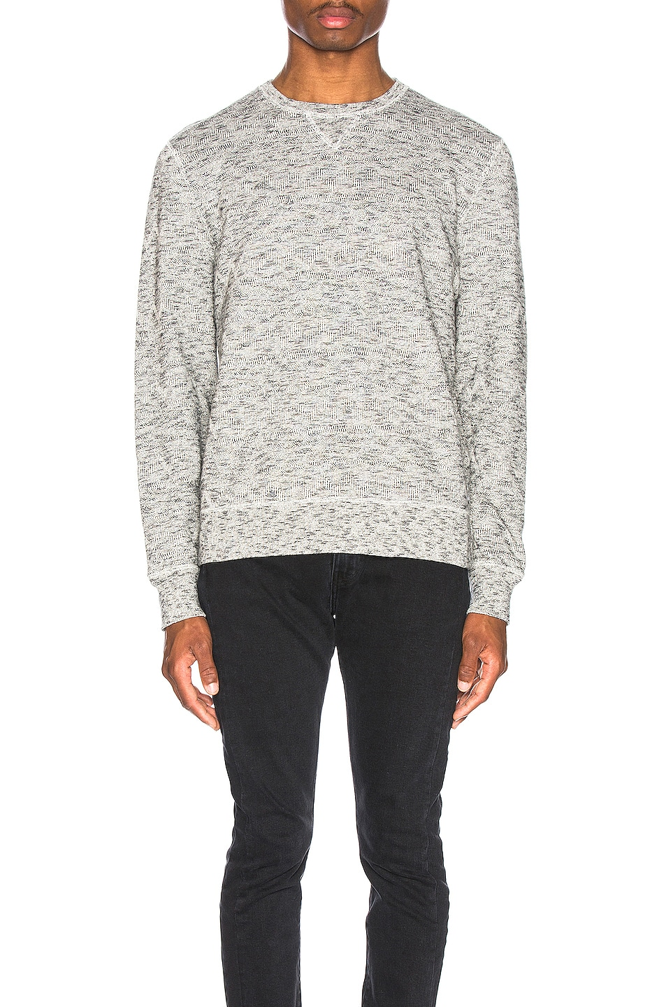 Image 1 of LEVI'S: Made & Crafted Geo Fleece Crewneck in Terry Grey