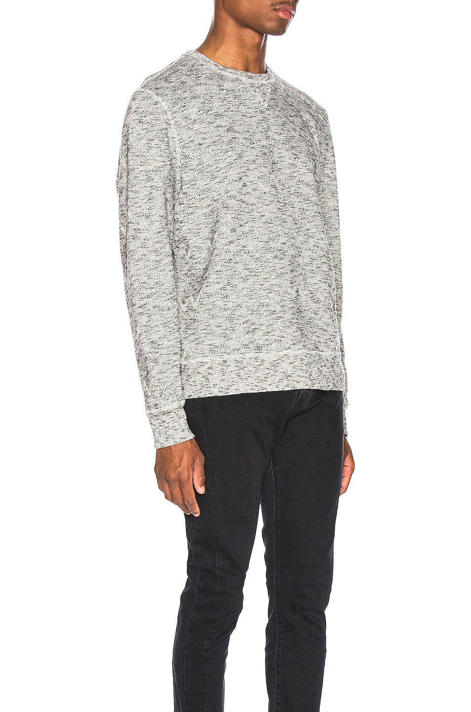 Image 2 of LEVI'S: Made & Crafted Geo Fleece Crewneck in Terry Grey