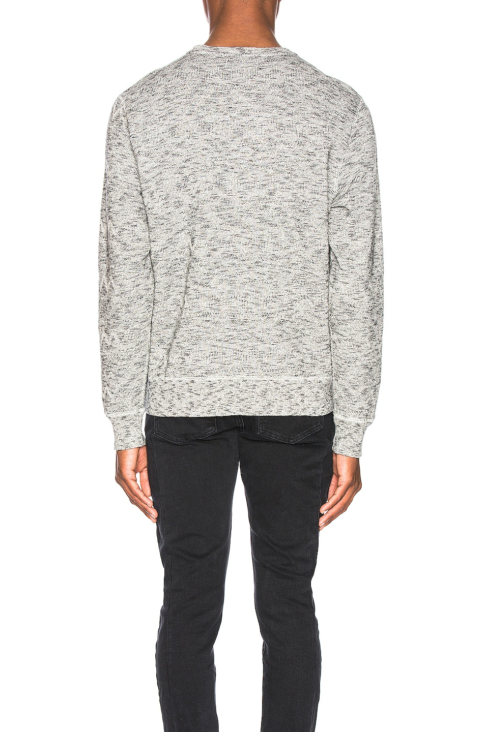 Image 3 of LEVI'S: Made & Crafted Geo Fleece Crewneck in Terry Grey