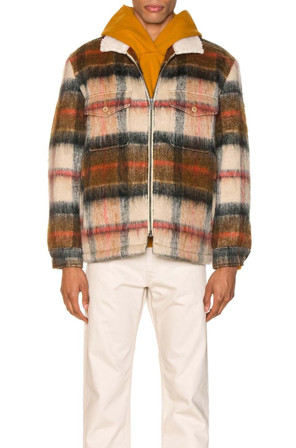 Image 2 of LEVI'S: Made & Crafted Sherpa Ranch Coat in Temescal Leather Brown