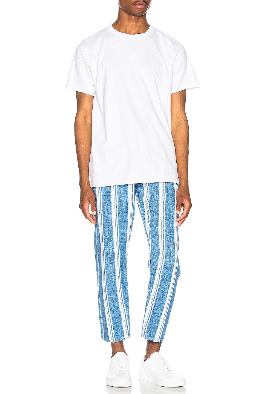 LEVI\ Draft Crop Carpenter Pant Linen Stripe low-cost