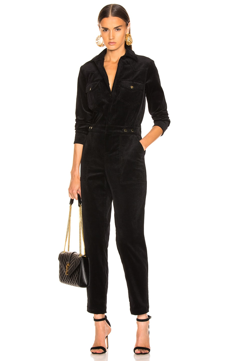 Image 1 of LAUREL & MULHOLLAND Albatross Jumpsuit in Black