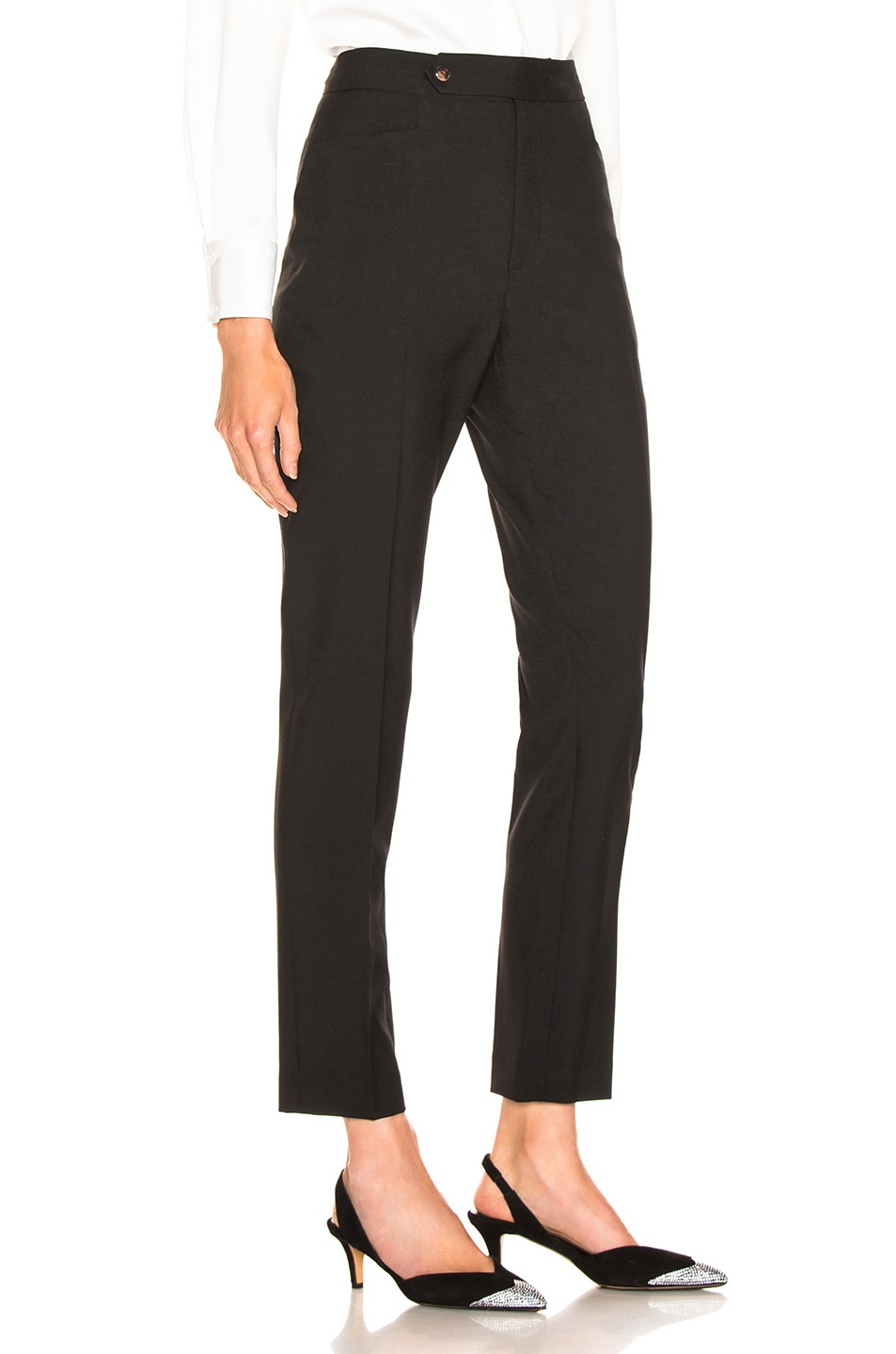 Image 2 of LAUREL & MULHOLLAND Anita High Waist Trouser in Black