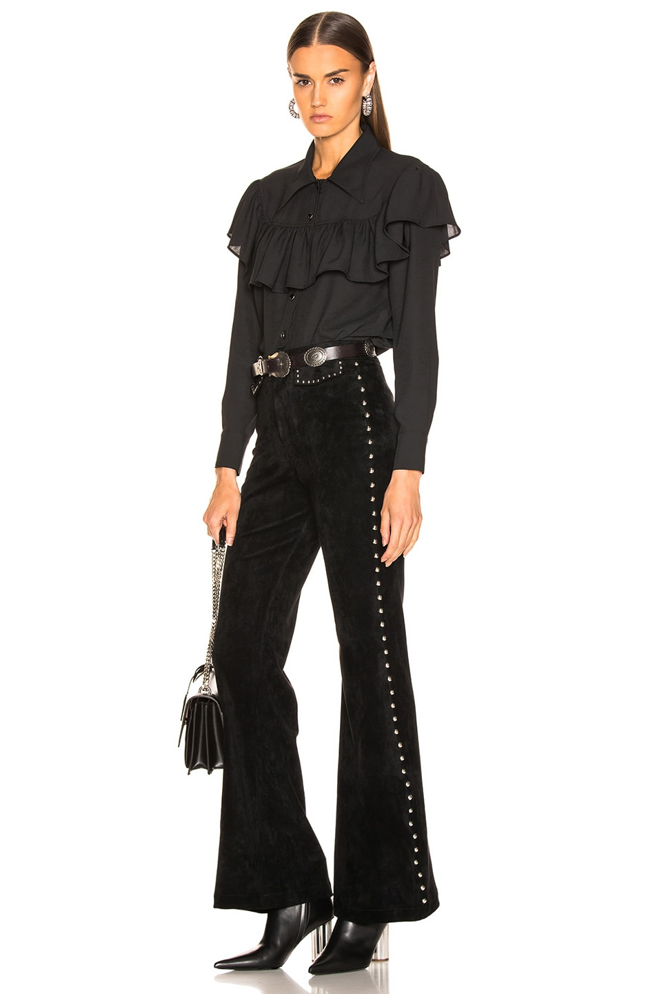 Image 4 of LAUREL & MULHOLLAND Gypsy Thieves High Waist Pant in Black