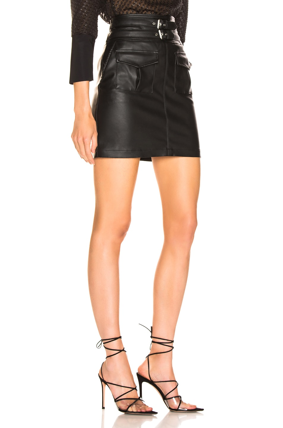 Image 2 of LAUREL & MULHOLLAND You're No Good High Waist Mini Skirt in Black
