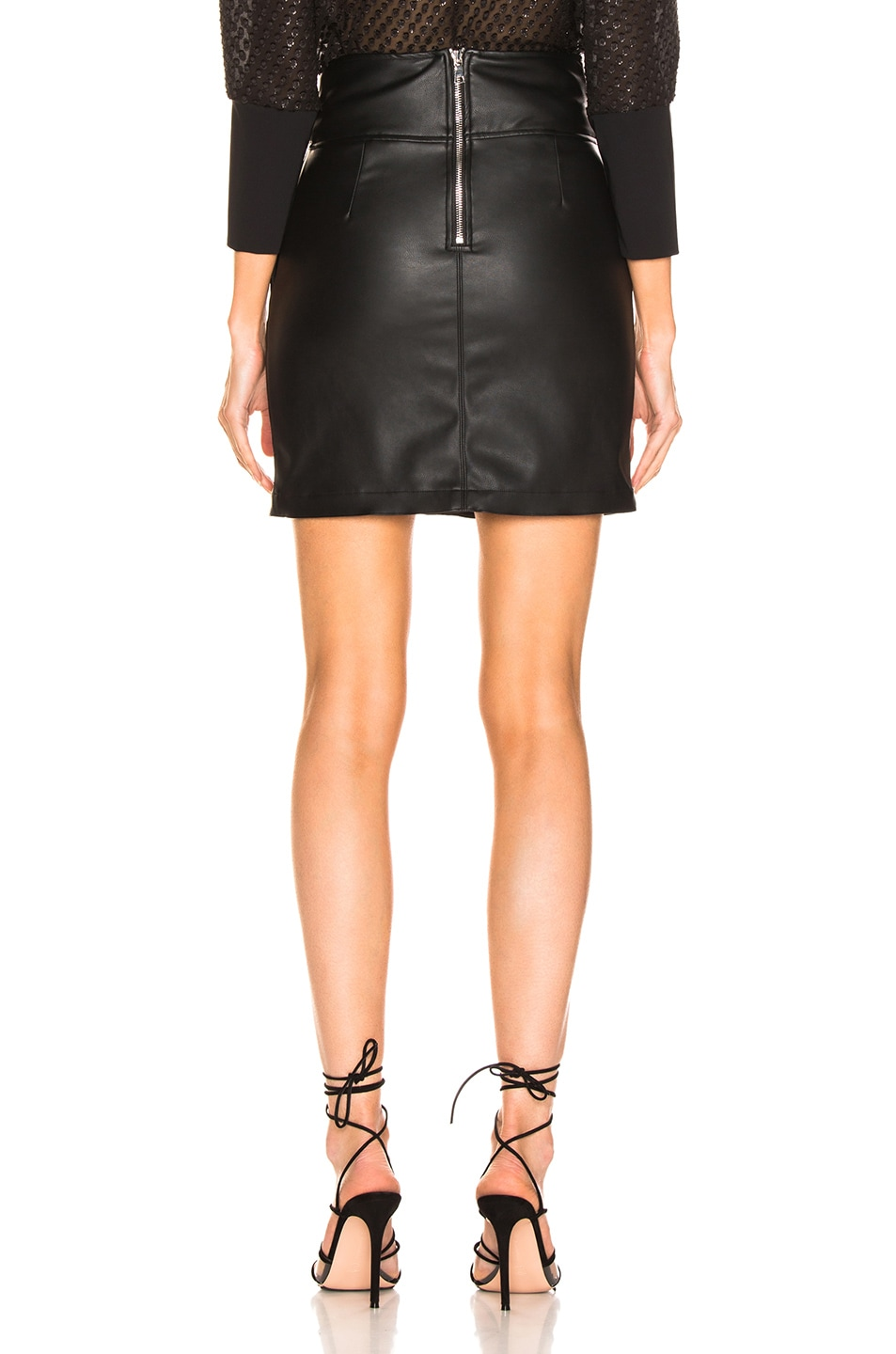 Image 3 of LAUREL & MULHOLLAND You're No Good High Waist Mini Skirt in Black