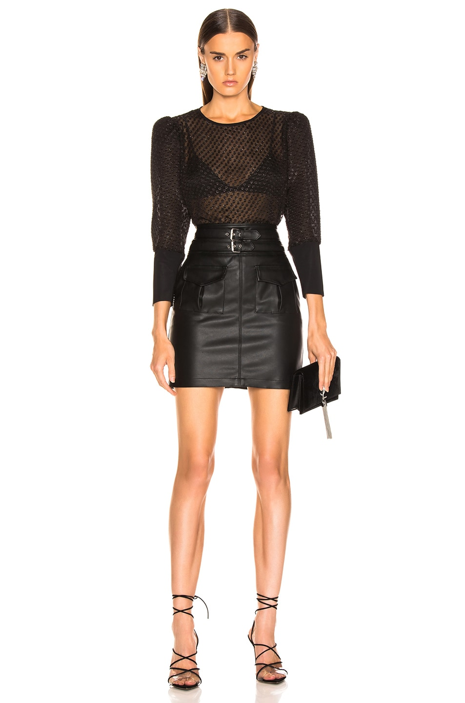 Image 4 of LAUREL & MULHOLLAND You're No Good High Waist Mini Skirt in Black