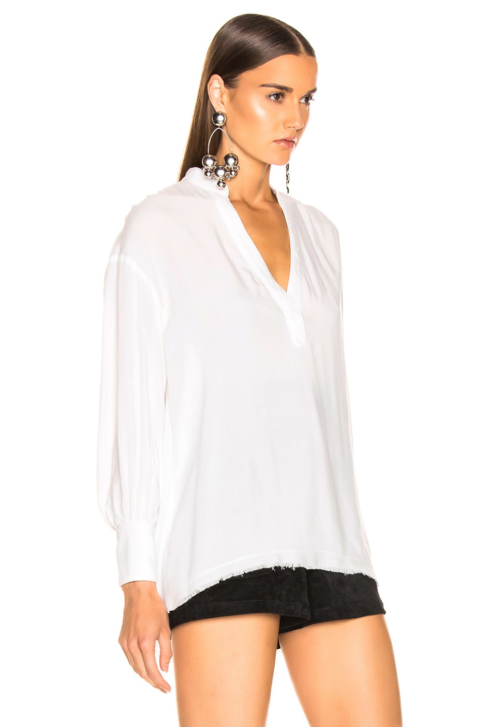 Image 2 of LAUREL & MULHOLLAND Canyon Peasant Tunic Top in White